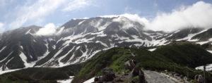 室堂平から望んだ夏の立山